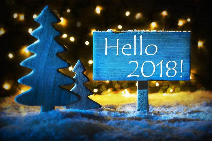 Hello 2018 Welcome Winter Season New Year 2018
