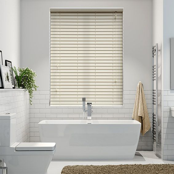 Classics Simply Cream Faux Wood Blind - 50mm Slat from Blinds 2go