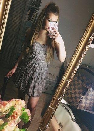 Kup mój przedmiot na #vintedpl http://www.vinted.pl/damska-odziez/krotkie-sukienki/16744961-bezowa-fioletowa-rozowa-sukienka-groszki-hm-must-have-letnia-sukienka-ramiaczka-falbany