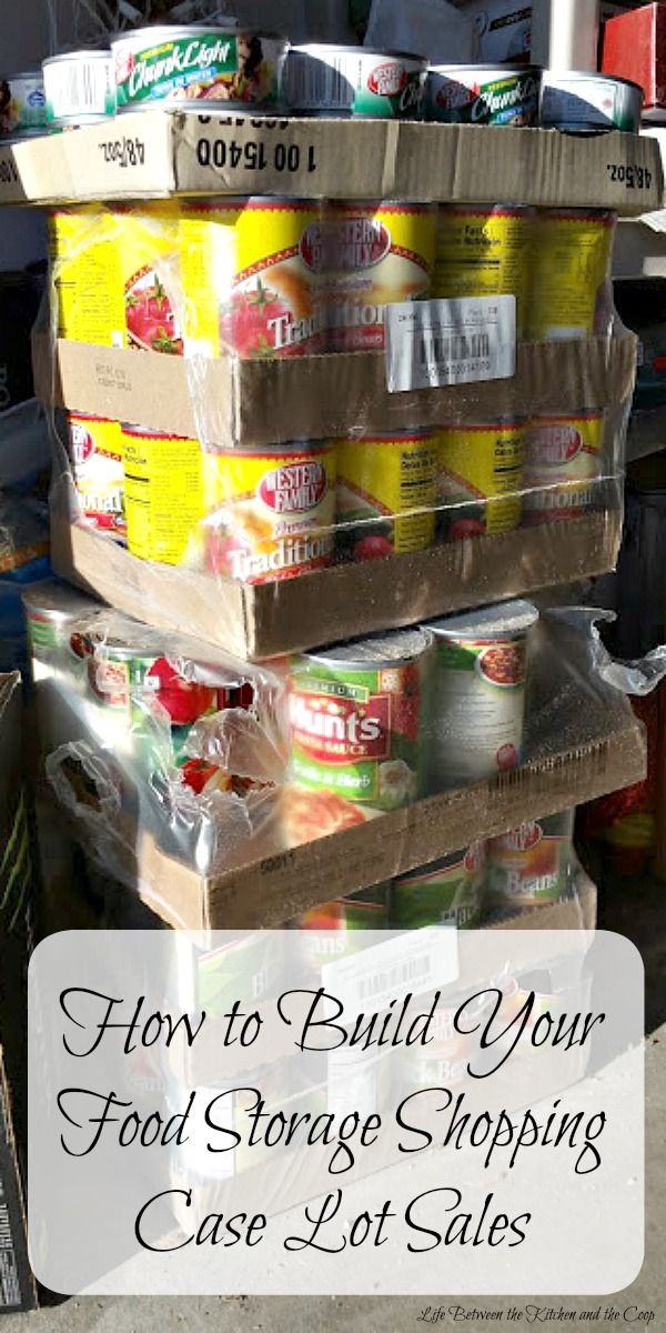 Let's talk about how to build food storage through shopping case lot sales.  Getting started on your food storage can be overwhelming.  You might be thinking that building your food storage takes money and maybe you don't have much cash to spare.  But if you learn how to shop strategically, you can  build your food storage, become more self-reliant, and be prepared for emergencies!  Click through now to the post for some great tips!