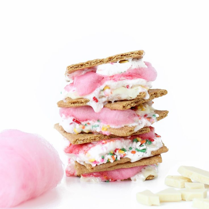 Pink Cotton Candy Confetti S'mores
