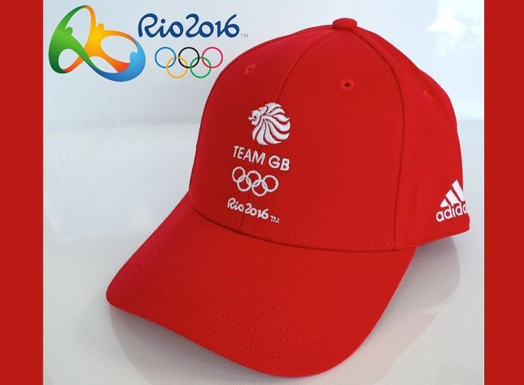 BNWT Official TEAM GB Rio 2016 Olympic ADIDAS Baseball CAP Red Adjustable RARE!