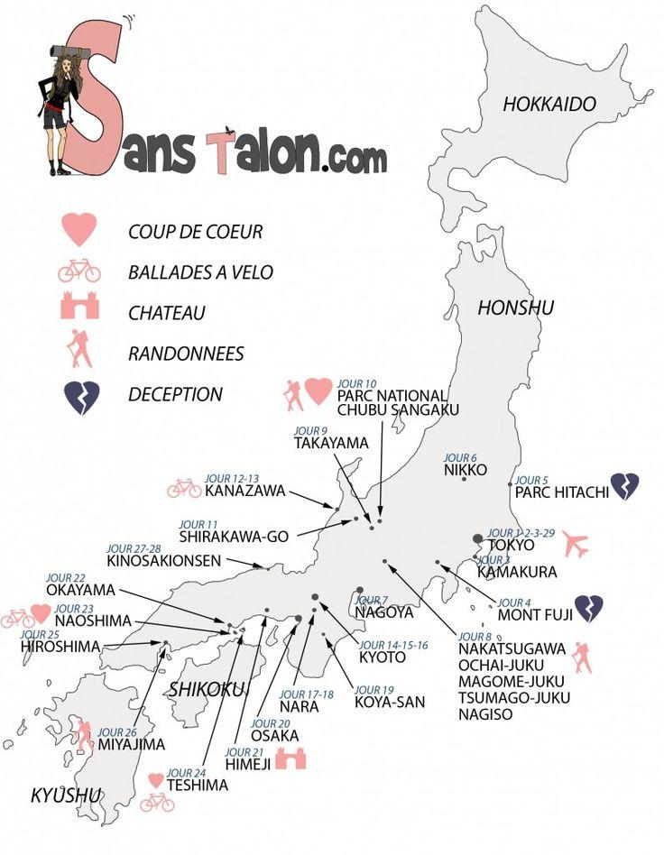 SansTalon-Carte du Japon Itineraire