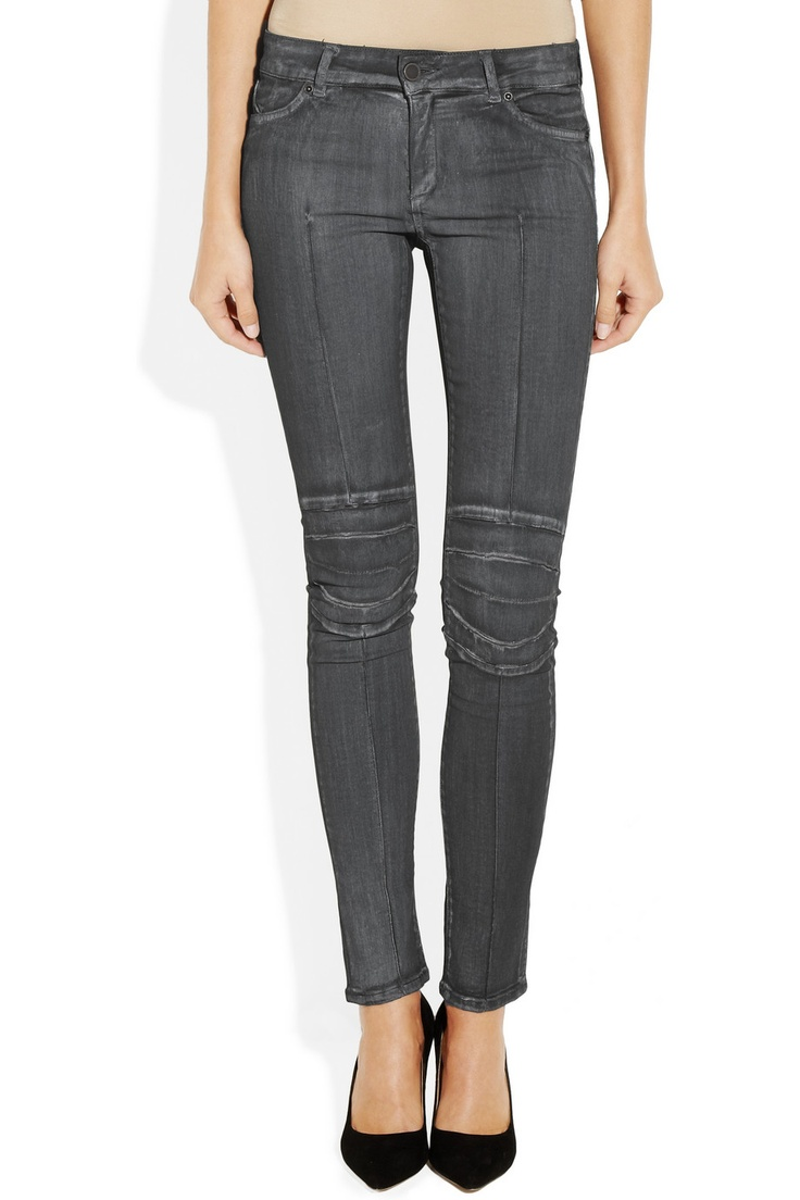 Superfine | Rider motocross-style low-rise skinny jeans | | I'll be ...