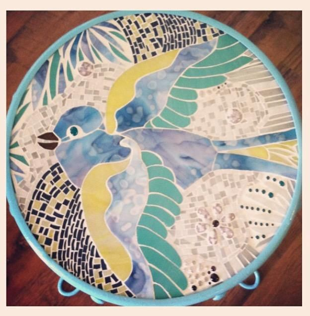 Swallow Mosaic Table Top - Delphi Artist Gallery
