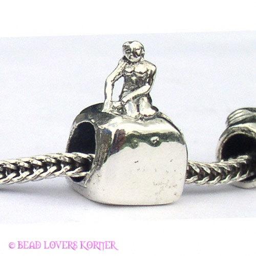 denmark copenhagen mermaid landmark bead compatible