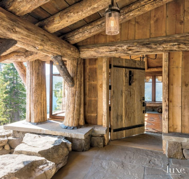 """4. Lodgepole Pines  """"Simple, natural materials in architecture are among the most luxurious and connect us to something larger than ourselves.""""  -Kevin Lichten, Architect and Partner, Lichten Craig Architecture + Interior #LuxeTurns10"""