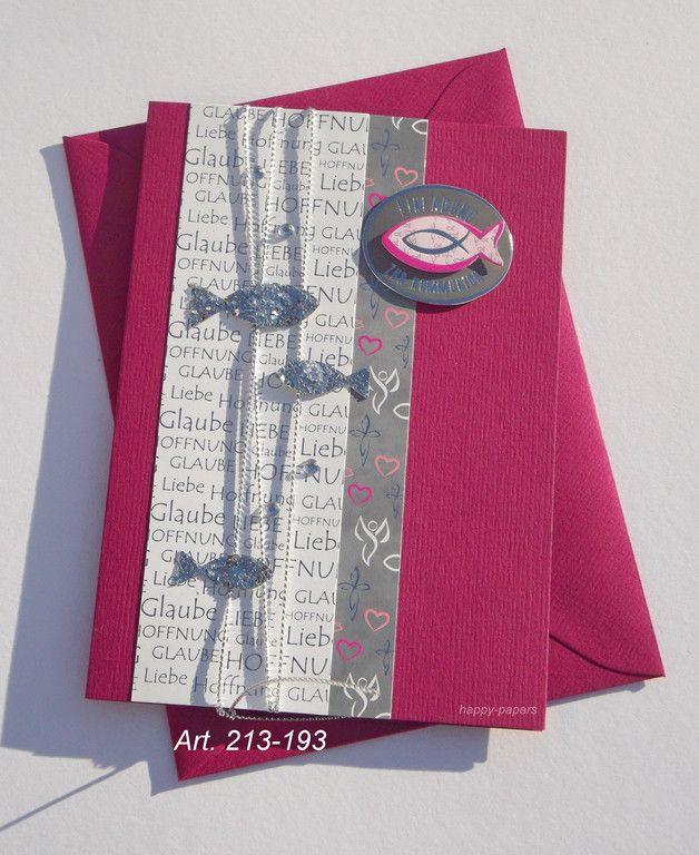- Erstkommunion - Kommunion - hl. Kommunion - Konfirmation - EINLADUNG - EINLADUNGSKARTE - intern: 213-193 in fuchsia/pink Diese zauberhafte Karte besteht aus einem fuchsia-farbigen...