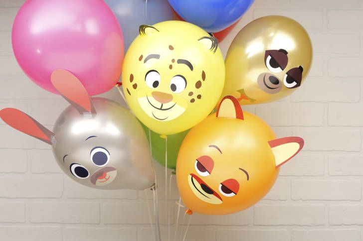 Make your party a better place with these fun balloons inspired by the characters of Zootopia!