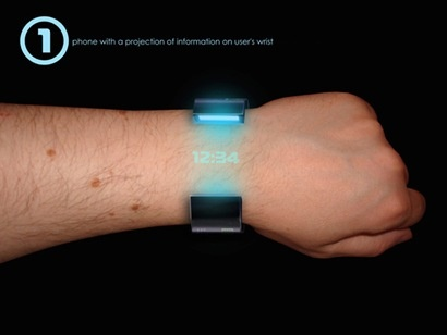 cell phone, chat, wrist watch, iPod, all in a bracelet all-in-one qui dit mieux ?