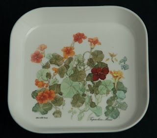 Mebel Melamine Snack Tray -- Nasturtiums, small size, made in Italy.