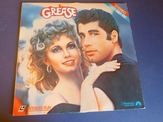 Grease Laser Video Disc Extended Play 1981 by mdgiftart on Etsy