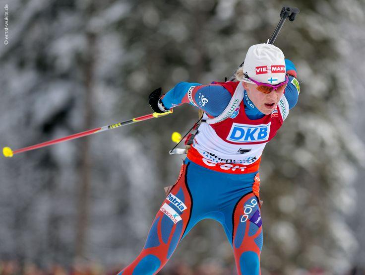 Kaisa Mäkäräinen (FIN) © Ernst Wukits #LEKI, #Poles, #Gloves, #Crosscountry, #Skiing, #Winter, #Outdoors, #Snow, #Racing