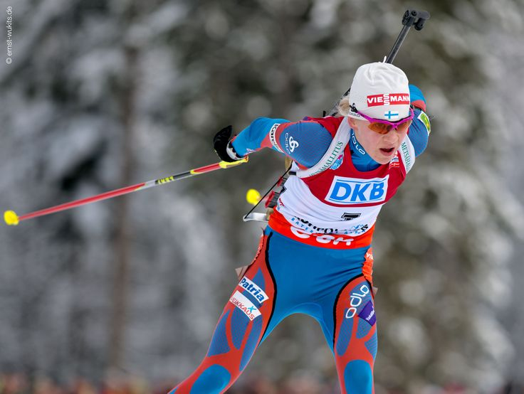 Kaisa Mäkäräinen (FIN) © Ernst Wukits #LEKI, #Poles, #Gloves, #Crosscountry, #Skiing, #Winter, #Outdoors, #Snow, #Racing