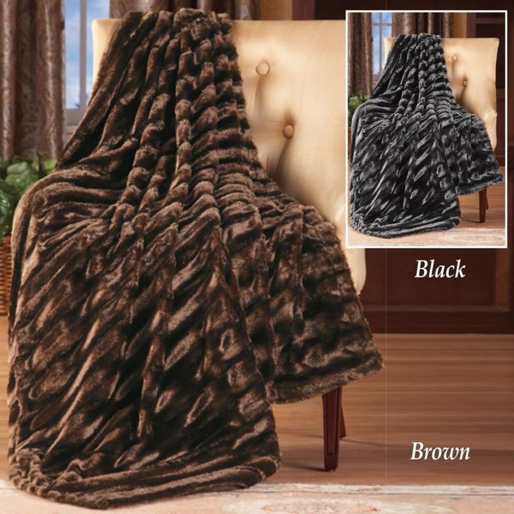 Striped Faux Mink Soft Brown Throw Blanket Luxurious Comfort 50 x 60 Inches #ThrowBlanket #Striped #StripedFaux #BrownBlanket #Soft #Comfy #Warm #Throw #Blanket #Home #Bedroom #LivingRoom #Luxurious