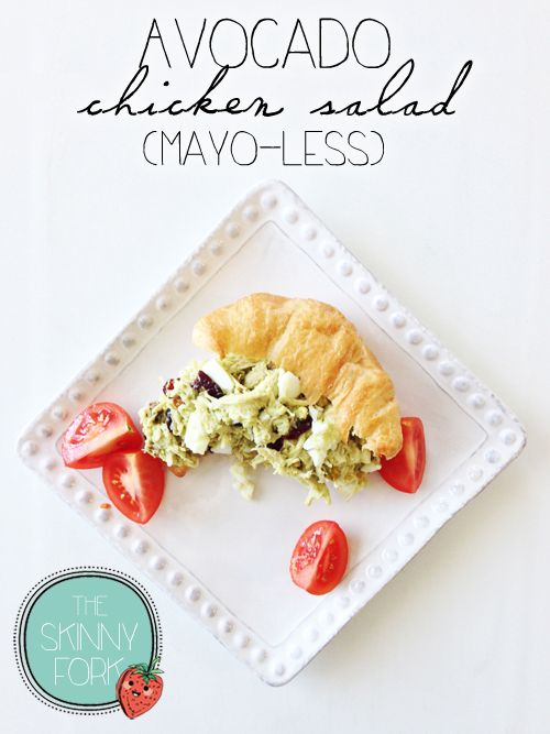 Avocado Chicken Salad (Mayo-less) - Dairy-free, gluten-free, and clean! A perfect adult lunch box idea for under 300 calories!