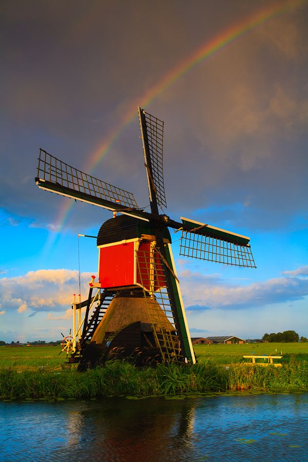 Windmill in Hoogmade,  The Netherlands