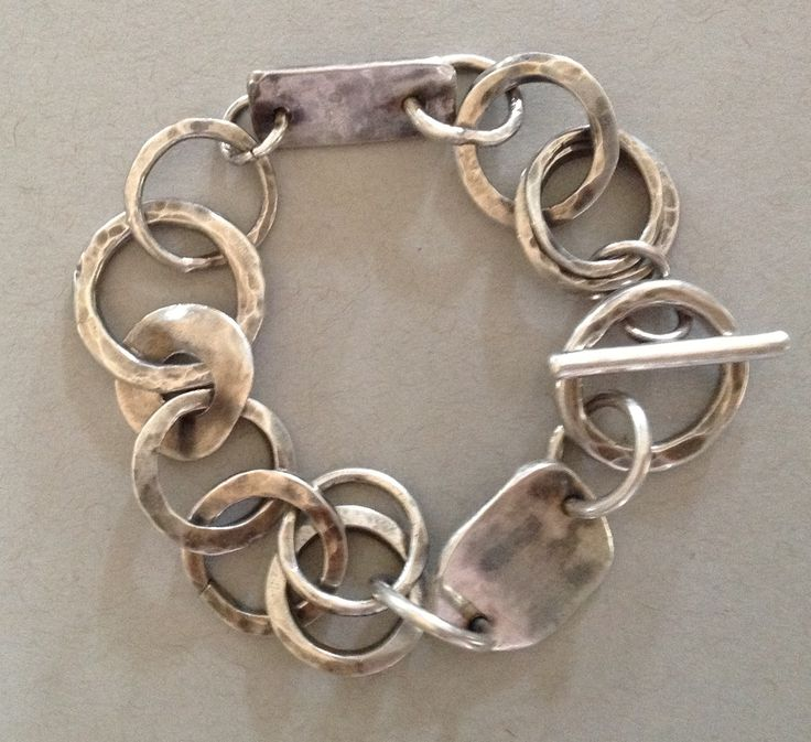 Sterling silver bracelet : Barbara Beamiss .... have just looked at her website - the sort of jewellery I have been looking for - fab :)