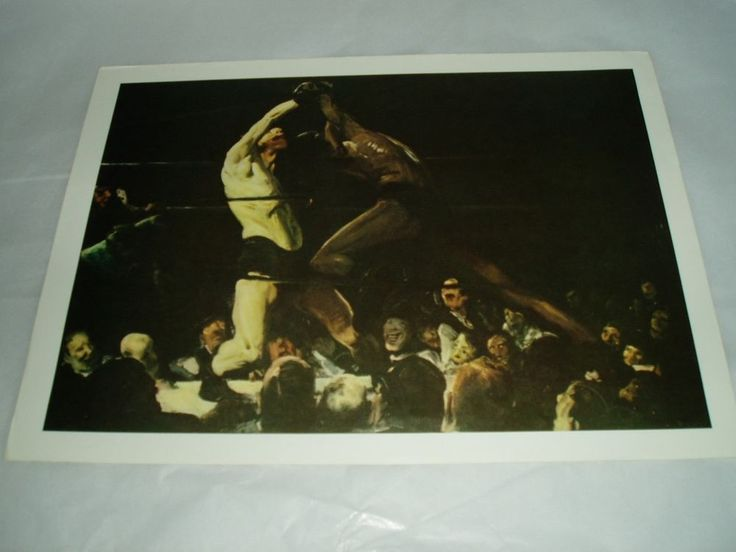 art print poster BOTH MEMBERS OF THIS CLUB, GEORGE W. BELLOWS 1909 #Realism