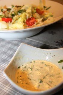 Česnekový dresink na salát /Garlic salad dressing/ Zdravé, nízkosacharidové, bezlepkové recepty. (Healthy, low carb, gluten free recipes.)