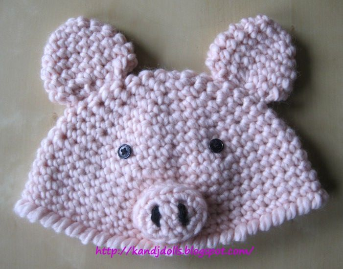Free Amigurumi Hat Patterns : 17+ best images about crochet pig on Pinterest Free ...