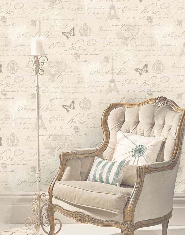 Estella | Papel de parede romântico | Padrões de papel de parede | Papel de parede dos anos 70