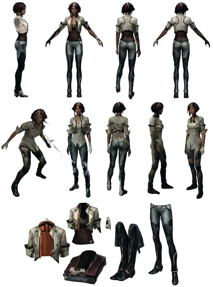 Nilin Clothing Design I know it's not real but I really want that leather jacket and boots.