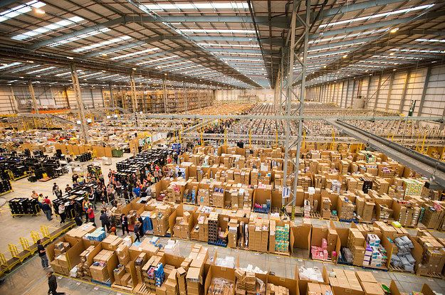 This Is What An Amazon Warehouse Looks Like A Month Before