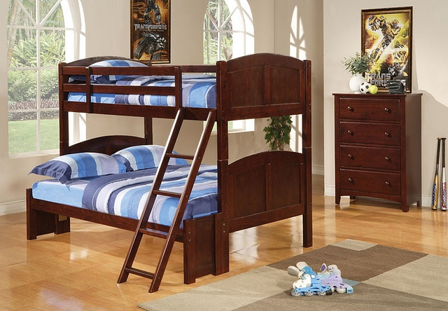 Me and the husband have been thinking about doing something like this for the little ones: Cappuccinos Finish, Parker Twin, Bunk Beds, Boys Rooms, Coasters Parker, Full Bunk, Beds Storage, Furniture, Kids Rooms