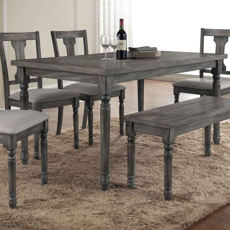 Dining Room Grey Rustic Dining Room Tables 4 Chairs With Bench Above Laminate Wood Floor Use Soft Carpet Around White Paint Wall Use White Curtain For Windows The Desirable Rustic Dining Room Tables