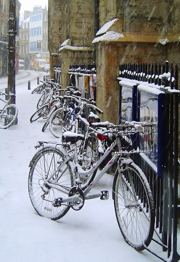 Colder on a bike.