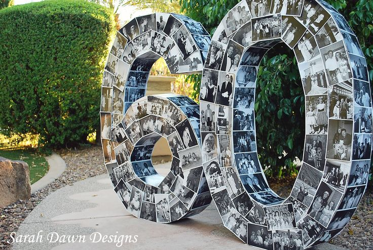 Sarah Dawn Designs: Happy 60th Birthday and the Photo Numbers.  3 1/2 feet high!  She has a very good tutorial for this.  What a unique idea for a very special birthday!