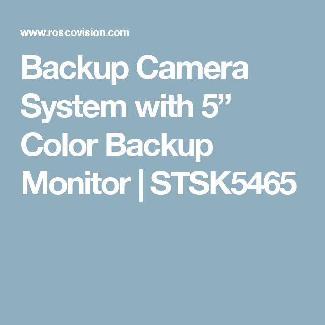 """Backup Camera System with 5"""" Color Backup Monitor   STSK5465"""