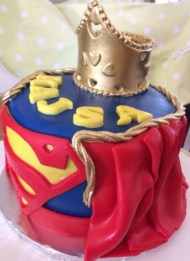 Supergirl Cake Designed And Made By Fantasia Petite Bakery