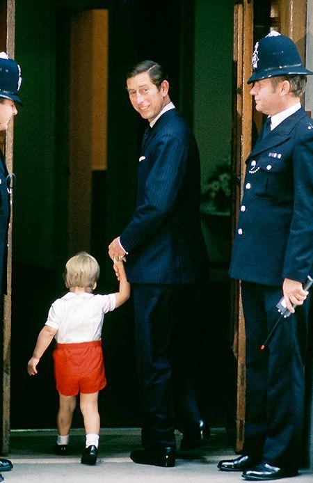 Принц Чарльз и принц Уильям, 1984 год