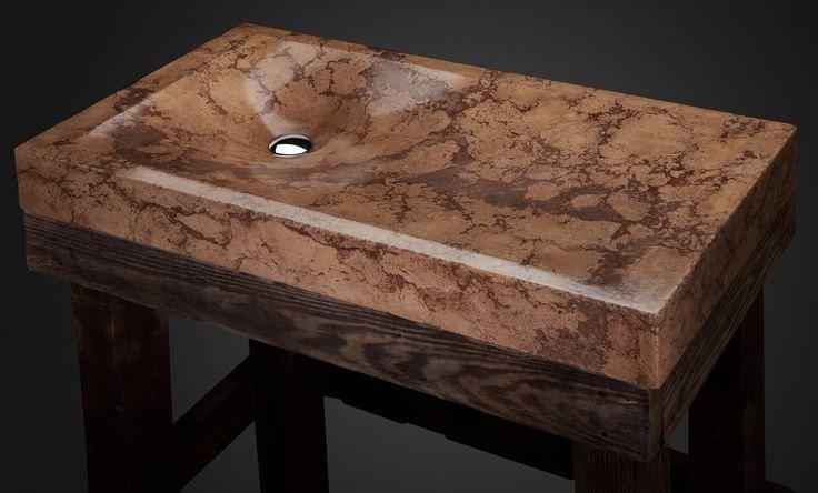 Concrete sink by Pietra Danzare.