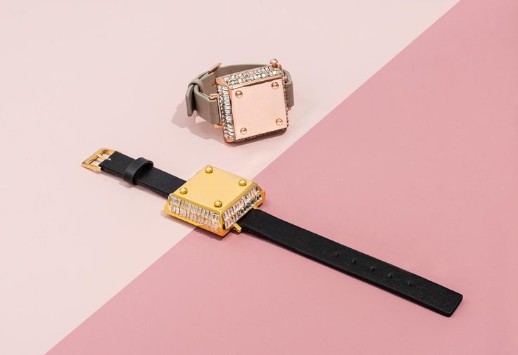 """Salsa"" Jawbone Bracelet in black and gold and mauve and rose gold, $55. Photo: BaubleBar."