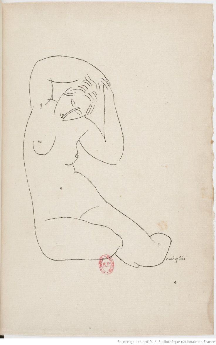 Nymphes . [Poème orné de dessins de Modigliani.]