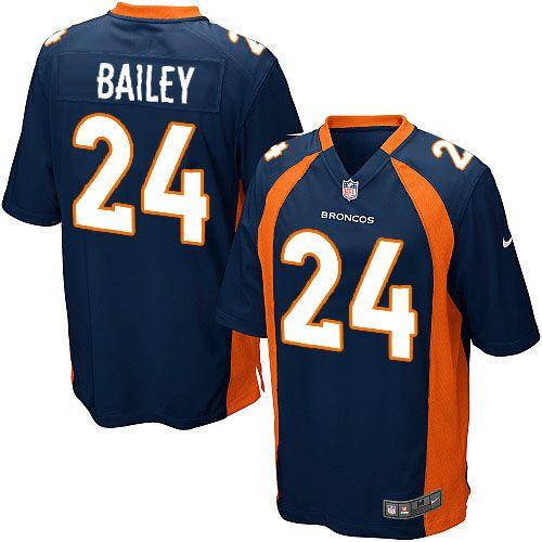 nike limited nike nfl mens denver broncos 24 champ bailey alternate dark blue nfl jersey