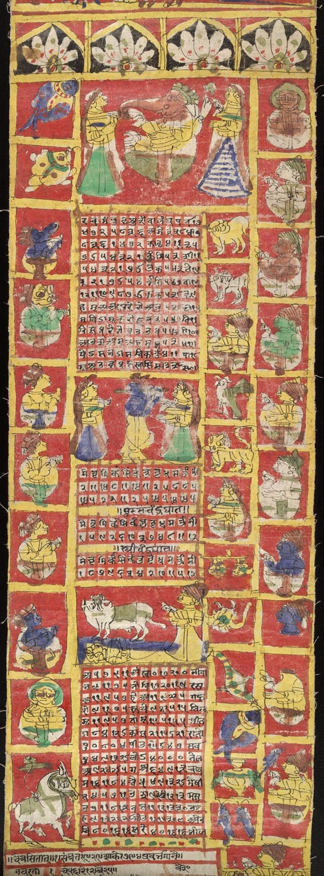 Almanac for Hindu year 1871-1872. Rajastan, India: 1871. Fabric. Southern Asian Section, Asian Division, Library of Congress (92) The Heavens - World Treasures: Beginnings   Exhibitions - Library of Congress