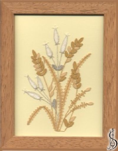 Blossom No. 10111  		   Cinnamon frame with glass, dimensions 15 x 20 cm, frame selection: yellow, blue, green, red, cinnamon, colored / white lace Price: € 2  ............................  Protected by copyright!