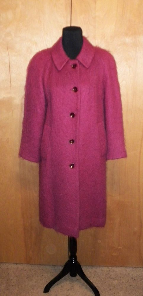 02e7d516bb4c6 VINTAGE APPLESEEDS RASPBERRY MOHAIR WOOL WOMENS DRESS COAT SZ 10 PETITE  EUC!!  fashion  clothing  shoes  accessories  womensclothing   coatsjacketsvests ...
