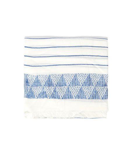 Foulard motifs et rayures - NADINA - BLANC/BLEU - Etam