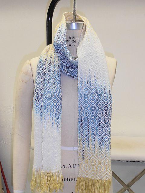 gorgeous woven ikat scarf by Raveler KatherineM