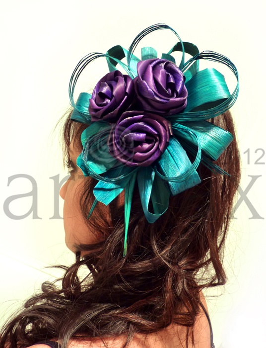 Artiflax - weddings - flax flower fascinators.  Worldwide shipping