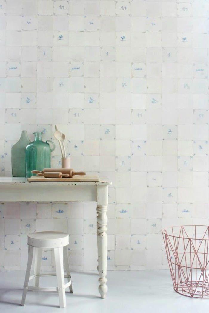 papel pintado azulejos