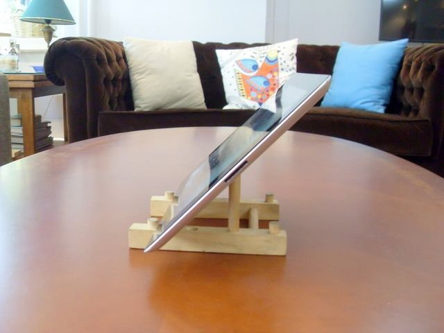 how to make a wooden ipad stand
