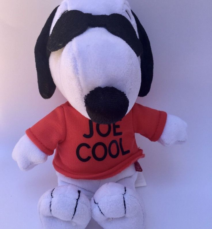 Snoopy Joe Cool Stuffed Plush Gang Dog by Peanuts  | eBay