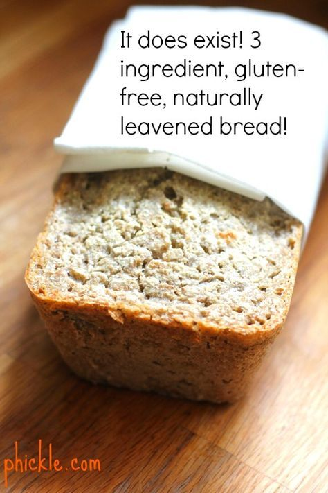 3-ingredient gluten-free bread! No more gums or additives. Just natural fermentation and some buckwheat groats. Learn how to make this simple, 3-ingredient bread on Phickle.com.