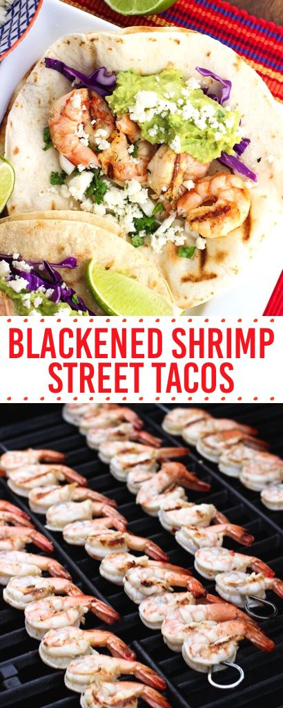[Msg 4 21+] Easy Blackened Shrimp Street Tacos are perfect for your Cinco de Mayo party! The shrimp marinade includes beer, honey, and lime for juicy grilled shrimp. #CervezaCelebration #ad